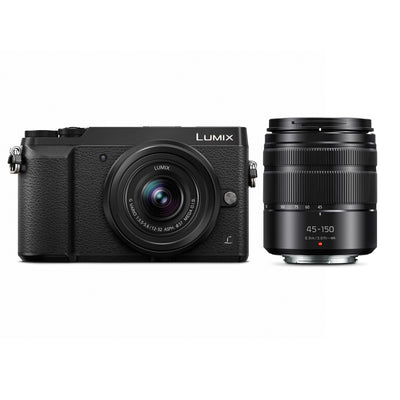 Panasonic Lumix DMC-GX85 Mirrorless Micro Four Thirds Digital Camera w/ 12-32mm & 45-150mm Lenses (Black)