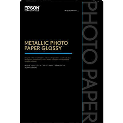 "Epson Metallic Photo Paper Glossy 13x19"" (25), papers sheet paper, Epson - Pictureline"