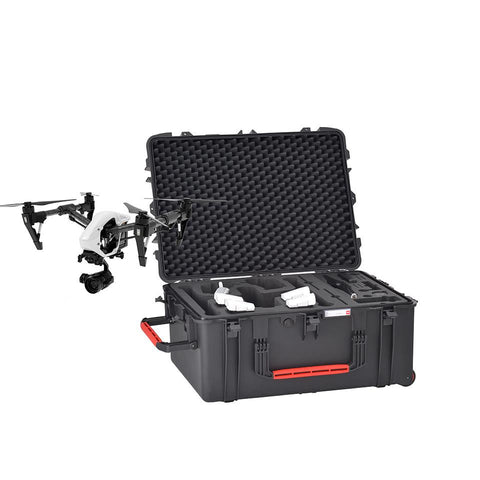 HPRC 2780 WINS Wheeled Hard Case & Foam for DJI Inspire in Landing Mode, bags hard cases, HPRC - Pictureline  - 1