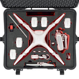 HPRC 2700 WPHA4 Wheeled Hard Case + Foam for DJI Phantom 4, video drone accessories, HPRC - Pictureline  - 3