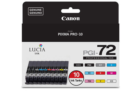 Canon LUCIA PGI-72 10-Color Ink Tank Value Pack (Pro-10), printers ink small format, Canon - Pictureline