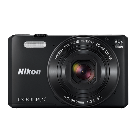 Nikon Coolpix S7000 Digital Camera Black, camera point & shoot cameras, Nikon - Pictureline  - 1
