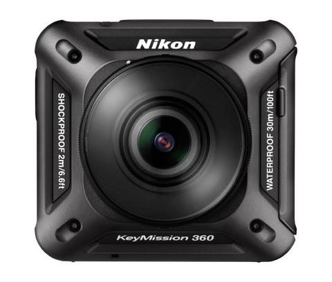 Nikon KeyMission 360 (Black), video action cameras, Nikon - Pictureline  - 1
