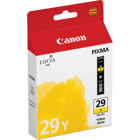 Canon PGI-29 Ink Yellow, printers ink small format, Canon - Pictureline