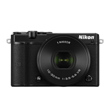 Nikon 1 J5 Digital Camera with 10-30mm Lens Black, camera mirrorless cameras, Nikon - Pictureline  - 1