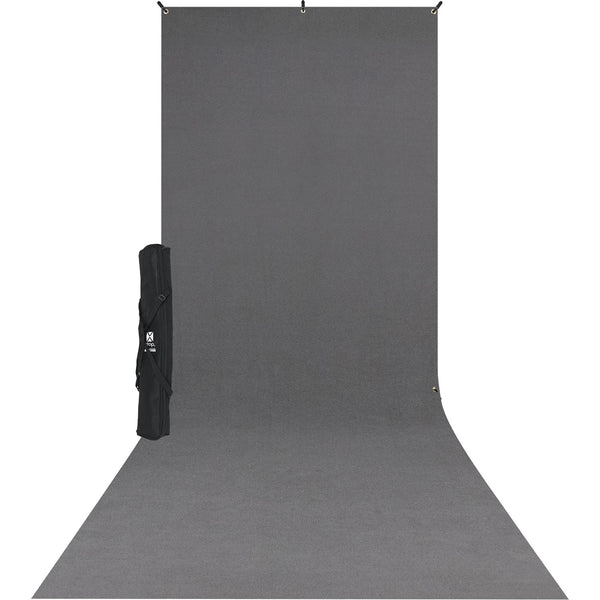 Westcott X-Drop Wrinkle-Resistant Backdrop Kit (5 x 12', Neutral Gray Sweep)