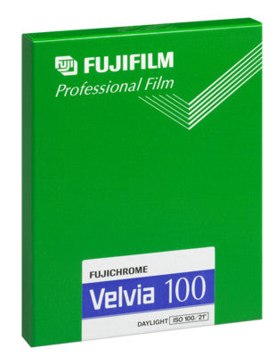 Fujichrome Velvia 100 4x5 Film (20 Sheets), camera film, Fujifilm - Pictureline