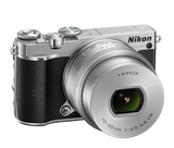 Nikon 1 J5 Digital Camera with 10-30mm Lens Silver, camera mirrorless cameras, Nikon - Pictureline  - 2