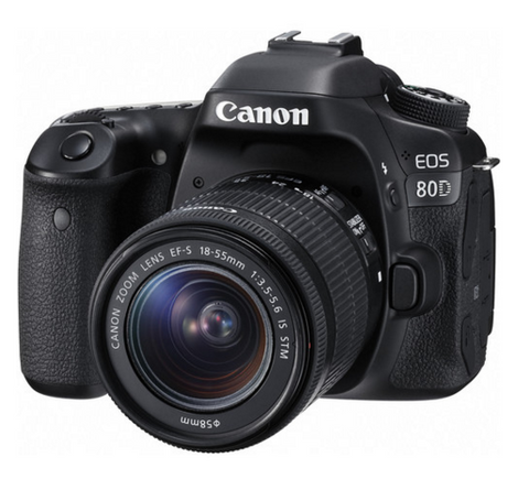 Canon EOS 80D DSLR Camera with 18-55mm IS STM Lens, camera dslr cameras, Canon - Pictureline  - 1
