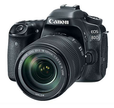 Canon EOS 80D DSLR Camera with 18-135mm IS USM Lens, camera dslr cameras, Canon - Pictureline  - 1