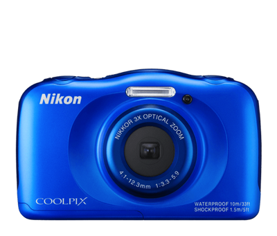 Nikon Coolpix S33 Digital Camera Blue, discontinued, Nikon - Pictureline  - 1