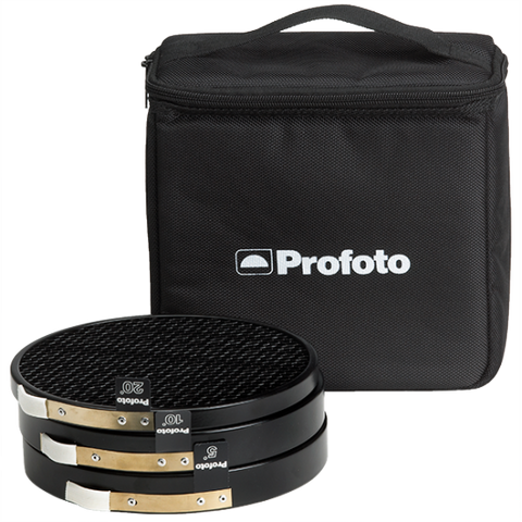 Profoto Grid Kit w/Bag (5, 10, 20 Degree), lighting barndoors and grids, Profoto - Pictureline