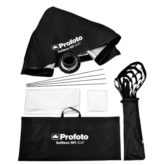 Profoto RFi Softbox 2x3' Kit w/Speedring & Grid, lighting barndoors and grids, Profoto - Pictureline