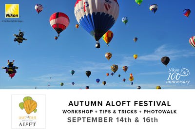 Autumn Aloft Workshop + Tips & Tricks + Photo Walk (Sept 14th & 16th)