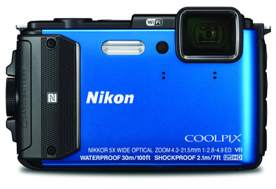 Nikon Coolpix AW130 Digital Camera Blue, discontinued, Nikon - Pictureline