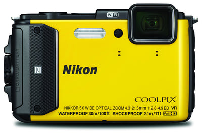 Nikon Coolpix AW130 Digital Camera Yellow, discontinued, Nikon - Pictureline