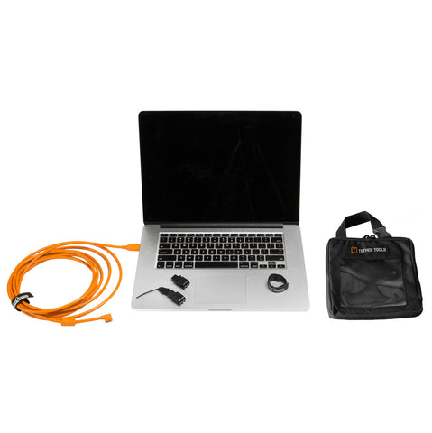 Tether Tools Starter Tethering Kit w/ USB 3.0 Micro-B Cable 15' ORG