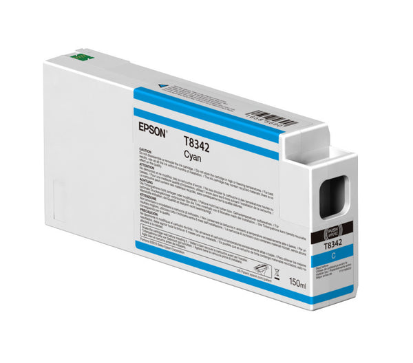 Epson T834200 P6000/P7000/P8000/P9000 Ultrachrome HD Ink 150ml Cyan, papers ink large format, Epson - Pictureline