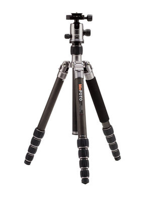 MeFOTO GlobeTrotter Carbon Fiber Travel Tripod Kit (Titanium), tripods travel & compact, MeFOTO - Pictureline  - 1