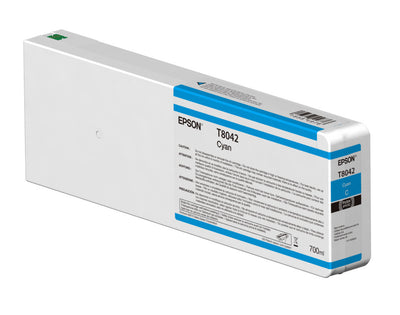 Epson T804200 P6000/P7000/P8000/P9000 Ultrachrome HD Ink 700ml Cyan, papers ink large format, Epson - Pictureline