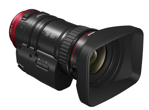 Canon EF CN-E 18-80mm T4.4L IS Compact Servo Cine Lens, lenses cinema, Canon - Pictureline