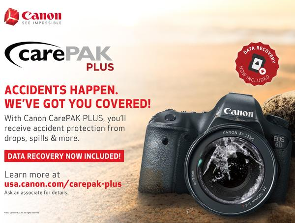 Canon CarePAK Plus 2 Year for Video $1,000 - $1,499.99