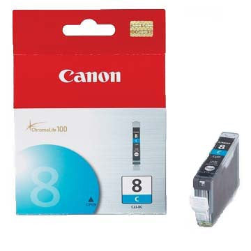 Canon Ink CLI-8C Cyan, printers ink small format, Canon - Pictureline