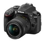 Nikon D3400 DX-format Digital SLR Kit w/ 18-55mm DX G VR Zoom Lens Black, camera dslr cameras, Nikon - Pictureline  - 4