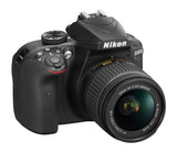 Nikon D3400 DX-format Digital SLR Kit w/ 18-55mm DX G VR Zoom Lens Black, camera dslr cameras, Nikon - Pictureline  - 2