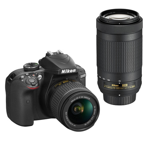 Nikon D3400 Digital SLR Camera 2 Lens Kit (18-55mm 70-300mm), camera dslr cameras, Nikon - Pictureline  - 1