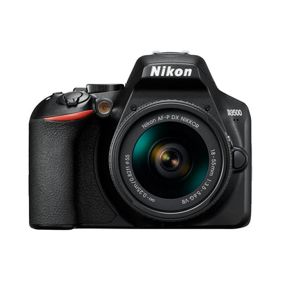 Nikon D3500 DX-format Digital SLR Camera w/ AF-P 18-55mm DX G VR Zoom Lens Black