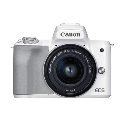 Canon EOS M50 Mark II with EF-M 15-45mm IS STM Lens Kit (White)