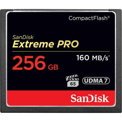 SanDisk Extreme Pro 256GB CF Memory Card 160MB/s