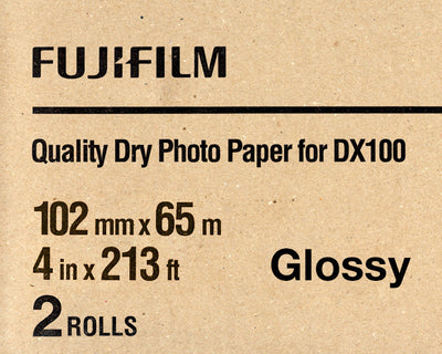 "Fuji DX100 Paper Glossy 4""x213' (2 Pack), papers roll paper, Fujifilm - Pictureline"