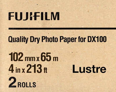 "Fuji DX100 Paper Lustre 4""x213' (2-Pack), papers roll paper, Fujifilm - Pictureline"