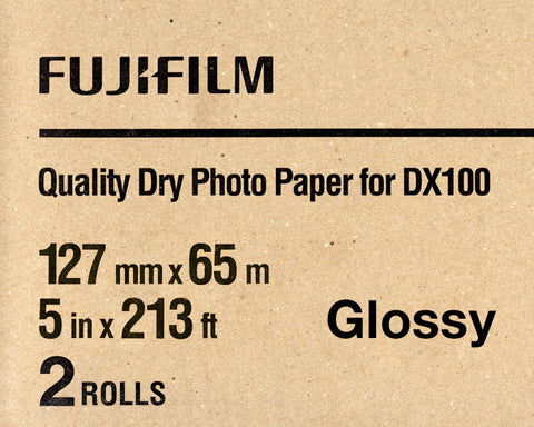 "Fuji DX100 Paper Glossy 5""x213' (2-Pack), papers roll paper, Fujifilm - Pictureline"