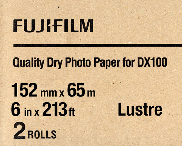"Fuji DX100 Paper Lustre 6""x213' (2-Pack), papers roll paper, Fujifilm - Pictureline"