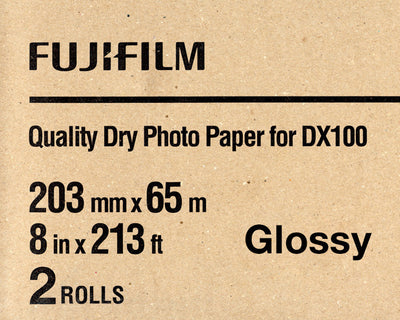 "Fuji DX100 Paper Glossy 8""x213' (2-Pack), papers roll paper, Fujifilm - Pictureline"