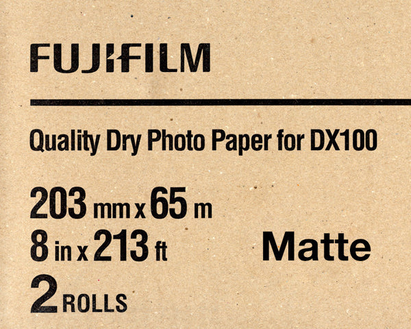 "Fuji DX100 Paper Fine Art Matte 8""x196' (2-Pack), papers roll paper, Fujifilm - Pictureline"