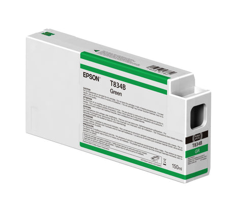 Epson T834B00 P7000/P9000 Ultrachrome HDX Ink 150ml Green, papers ink large format, Epson - Pictureline