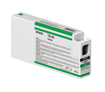 Epson T824B00 P7000/P9000 Ultrachrome HDX Ink 350ml Green, papers ink large format, Epson - Pictureline