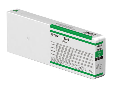 Epson T804B00 P7000/P9000 Ultrachrome HDX Ink 700ml Green, papers ink large format, Epson - Pictureline