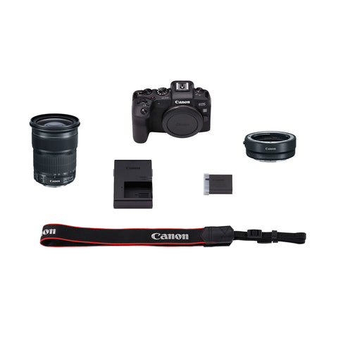 Canon EOS RP Mirrorless Digital Camera with EF-EOS R Mount Adapter & EF 24-105mm f/3.5-5.6 IS STM Kit
