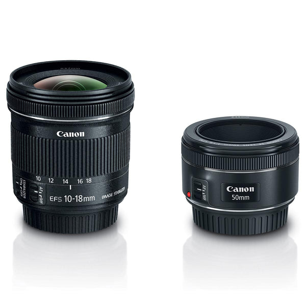 Canon Portrait & Travel 2 Lens Kit (50mm f/1.8 & 10-18mm f/4.5-4.6)
