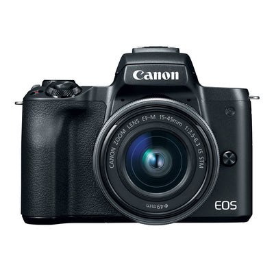 Canon EOS M50 with EF-M 15-45mm IS STM Lens Kit (Black)