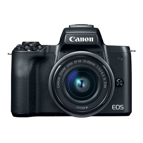 Canon EOS M50 with EF-M 15-45mm IS STM & EF-M 55-200 IS STM Lens Kit