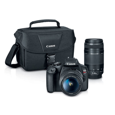 Canon EOS Rebel T7 18-55mm + 75-300mm + Bag Kit