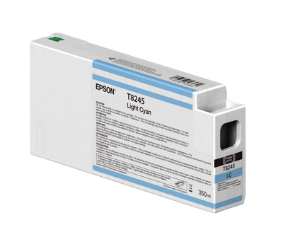 Epson T824500 P6000/P7000/P8000/P9000 Ultrachrome HD Ink 350ml Light Cyan, papers ink large format, Epson - Pictureline