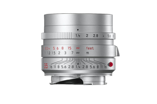 Leica 35mm f/1.4 ASPH Summilux-M Lens (Silver Anodized), lenses mirrorless, Leica - Pictureline