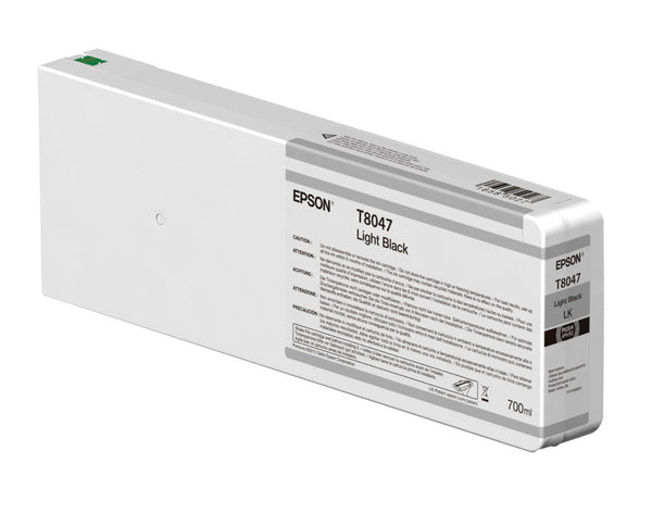 Epson T804700 P6000/P7000/P8000/P9000 Ultrachrome HD Ink 700ml Light Black, papers ink large format, Epson - Pictureline